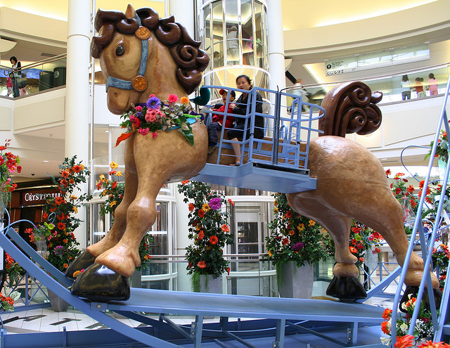 Giant Rocking Horse at Southdale Mall